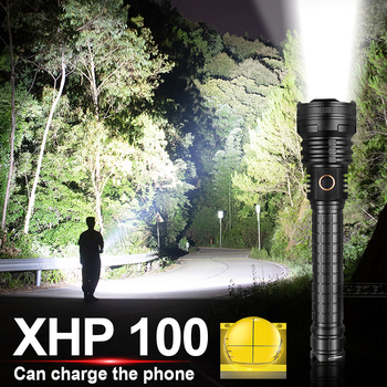 500000LM XHP100 Powerful led Flashlight 18650 26650 USB rechargeable Hunting Lantern XHP90 flash light torch XHP70 Fishing lamp image