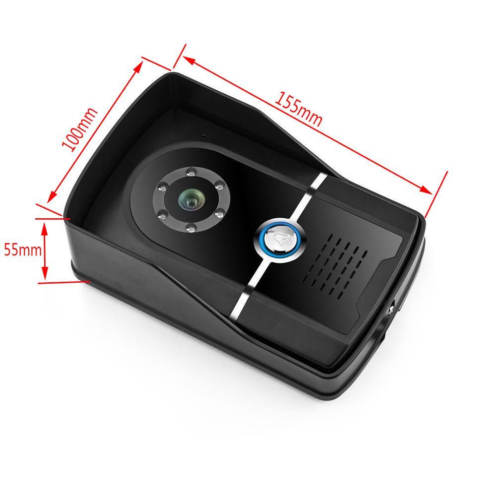 Image 3 - 7 inch Video Door Phone Doorbell Intercom System IP55 level waterproof camera-in Video Intercom from Security & Protection
