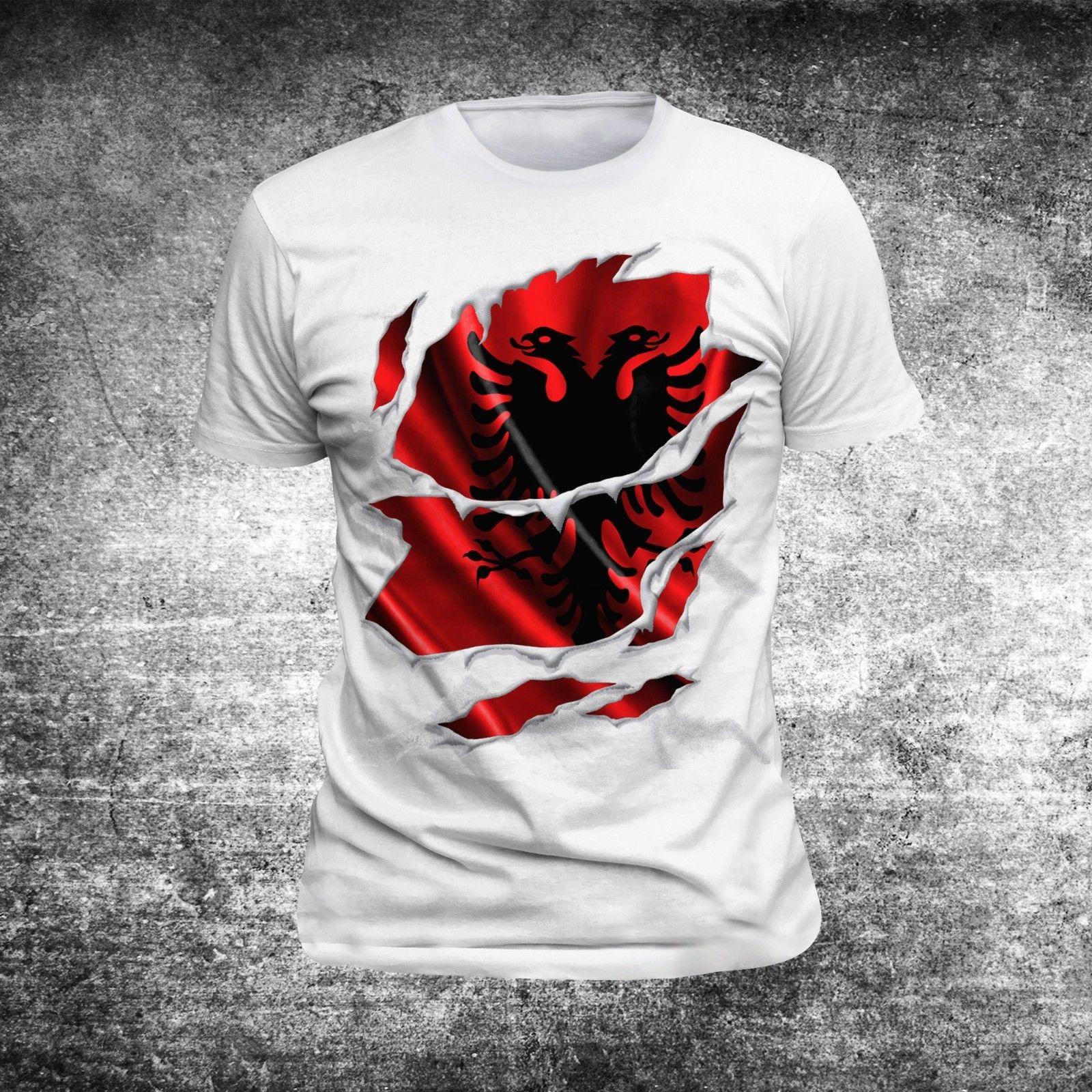 New Summer Cool TShirt Men O-neck T-shirt Albanien Albania Balkan Shirt Kosova Kosovo Flag Cotton T-shirt Tees