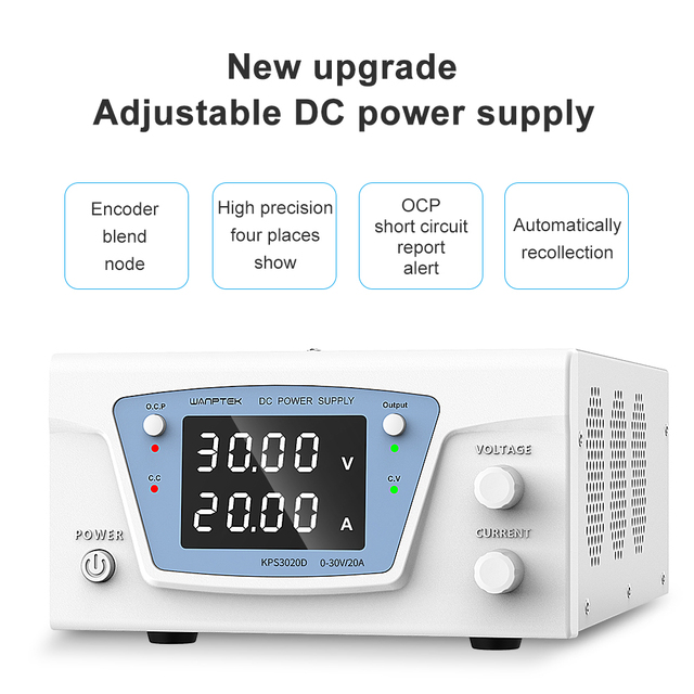 bench source laboratory dc stabilized power supply adjustable variable digital regulated power supply 30v 20a 60v 10a wanptek