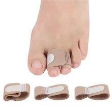 10 Pçs/lote Tecido do Dedo do pé Dedo Separador Do Dedo Do Pé Tala Alisador de Martelo Toe Hálux Valgo Corrector Bandagem Envolve Cuidados Com Os Pés