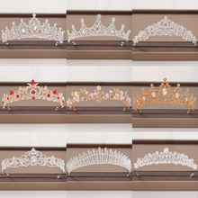 Trendy Wedding Crown Bridal Headpiece Baroque Crystal Tiaras and Crowns Gold Silver Color Bride Wedding Crown Hair Accessories цена 2017
