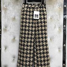 Победитель Модные женские клетчатые твидовые брюки женские широкие брюки gdnz 10,30