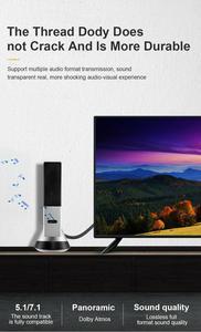 Image 5 - HDMI 2.1 4K 120HZ hdmi عالية السرعة 8K 60 HZ UHD HDR 48Gbps كابل HDMI Ycbcr4: 4: 4 النحاس 30AWG محول لأجهزة العرض PS4 HDTVs