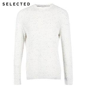 Image 5 - 選択された男性のカジュアルなプルオーバーのセーター O ネック新綿 100% 長袖ニット服 C