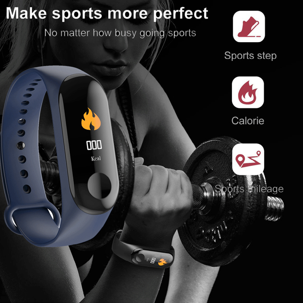 Image 2 - M3 Plus Waterproof Smart Watch M3Plus Bluetooth Watch Wristband Fitness Tracker Heart Rate Activity Bracelet Sport Smartwatch-in Smart Watches from Consumer Electronics