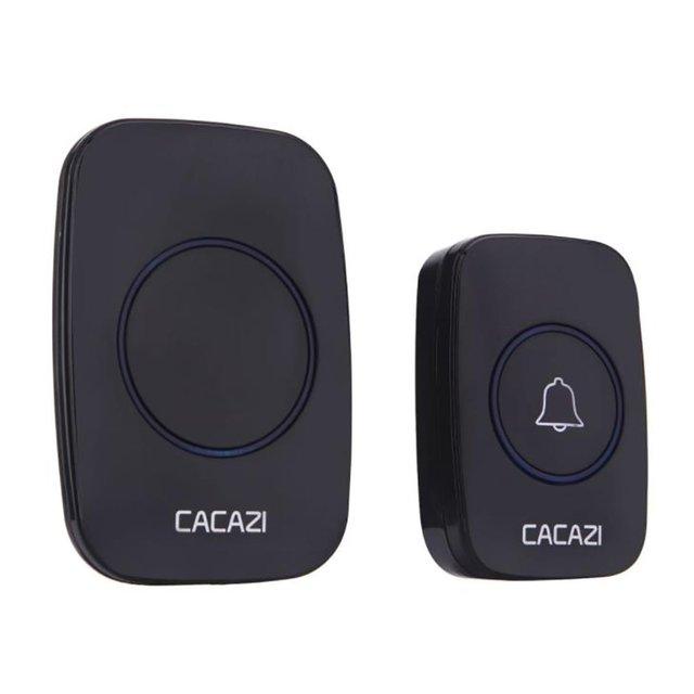 A10 noir sans fil sonnette à distance sans fil maison sonnette Anti-vol insonorisation appel entrant sonnette intelligente