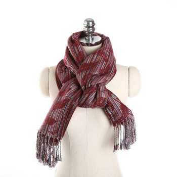 2020 autumn and winter new fashion imitation cashmere scarf three-dimensional leaf pattern striped fringed scarf warm bib women chic leopard pattern fringed edge voile scarf for women
