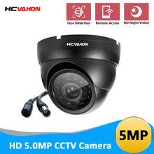 HCVAHDN 5MP HD kamery analogowej KAMERA TELEWIZJI PRZEMYSŁOWEJ TVI/AHD/CVI/CVBS przełącznik 4 w 1 czarny bezpieczeństwa kopuła kamery 3.6mm aparat nadzoru