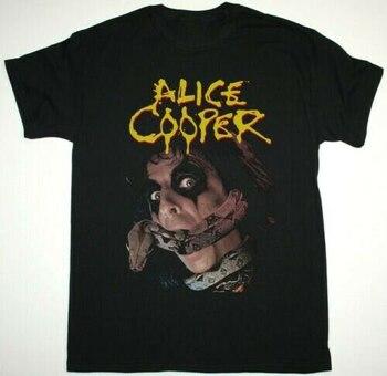 Camiseta de algodón con reestampado de Alice Cooper, camiseta nueva de algodón...