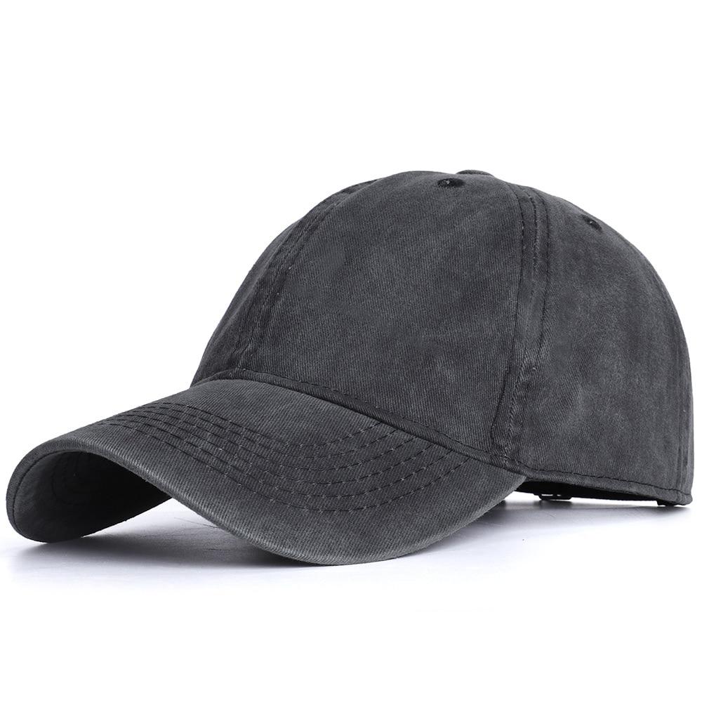 2020 High Quality Men Washed Cotton Baseball Cap Women Vintage Snapback Hat Adjustable Trucker Outdoor Caps Black Dad Hat Bone 11