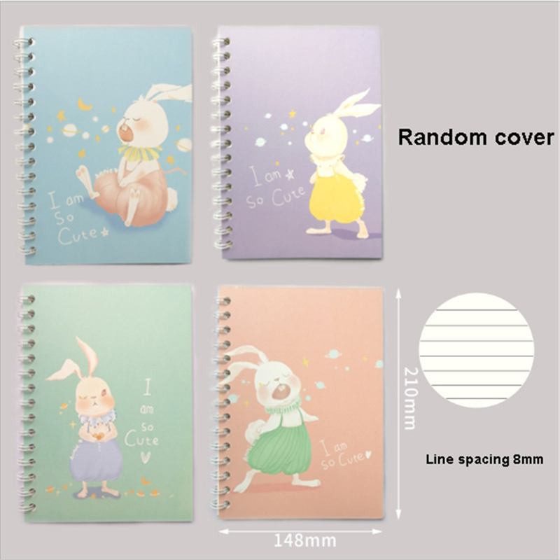 EE/_ 80SHEETS MINI CARTOON ANIMAL SPIRAL NOTEBOOK COIL BOOK OFFICE SCHOOL SUPPLY