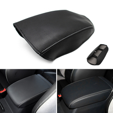 De cuero de microfibra con 1 rojo/blanco Línea Interior caja para apoyabrazos central de protección de ajuste para VW Golf 7 MK7 2014, 2015 de 2016