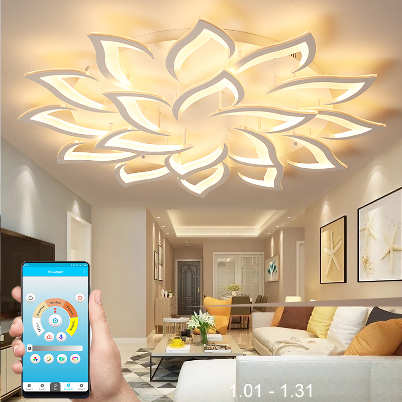 New led Chandelier For Living Room Bedroom Home chandelier by sala Modern Led Ceiling Chandelier Lamp Lighting chandelier leuchte wohnzimmer mit fernbedienung