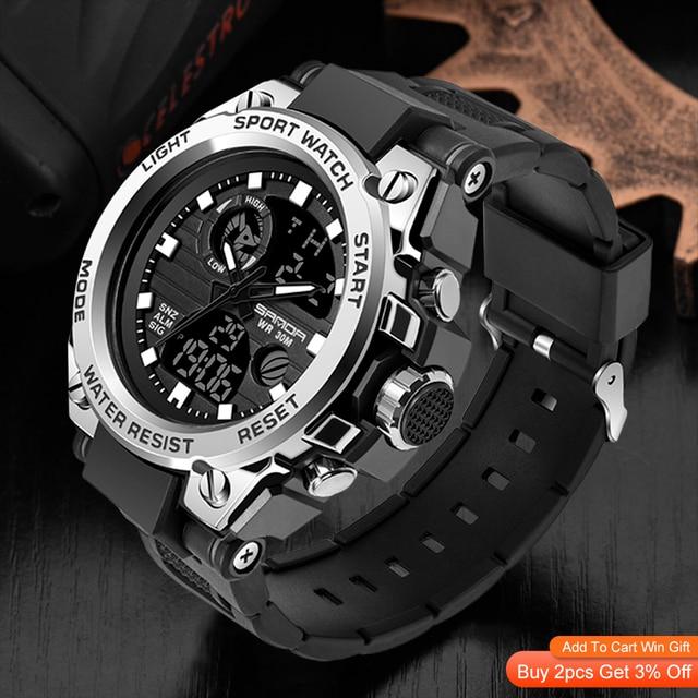 SANDA Top Luxury Watches Men Military Army Mens Watch 2