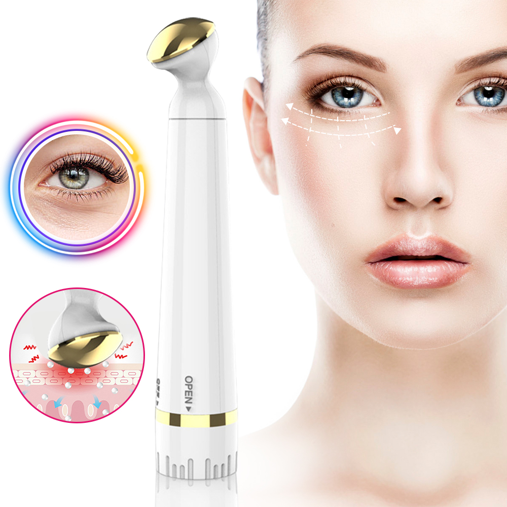Electric Eye Massager Anti Aging Wrinkle Eye Patch Relief Micro-current Massage Negative Ion Importing Eyes Care Device