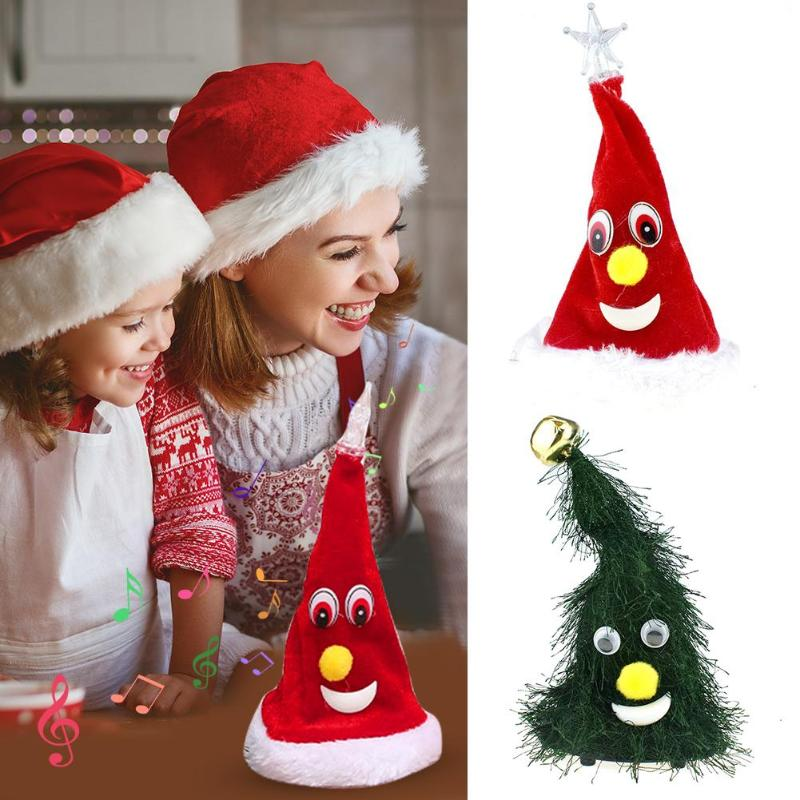 Christmas Tree Ornament Decorative Electric Doll Toy Xmas Party DIY Crafts Novelty Musical Toy Ornaments Mini Christmas Tree