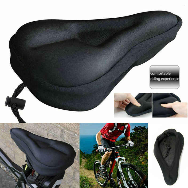 COMFORT Wide Bicycle SEAT COVER Cushion 3D Silicon GEL Design for Long Rides