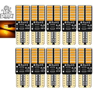 Image 3 - 10 stücke T10 LED canubs W5W 4014 194 Auto lichter bulb Auto herstellung unabhängige 24 led glühbirne ist sehr helle Weiß, gelb