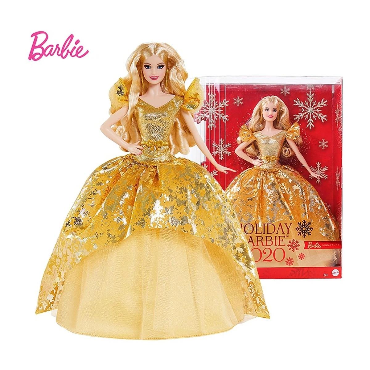 Búp Bê Barbie Holiday 2020 Bất Ngờ Búp Bê Với Mái Tóc Vàng Vàng Bộ Sưu
