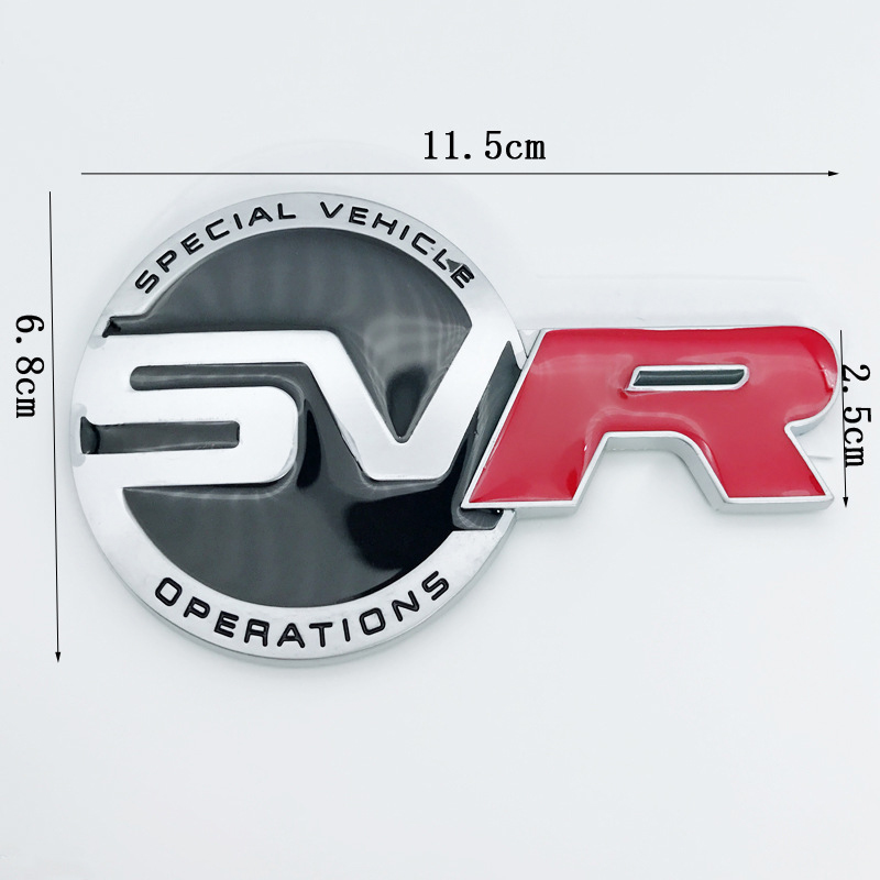 "RED LAND RANGE ROVER /'SPORT HSE SDV6/"" SUPERCHARGED BADGE LOGO EMBLEM DECAL"