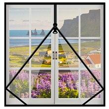 👍Mosquito nets for windows Self-adhesive zipper Easy Mosquito screens DIY Magic stickers simpleDoor and window screen Custom