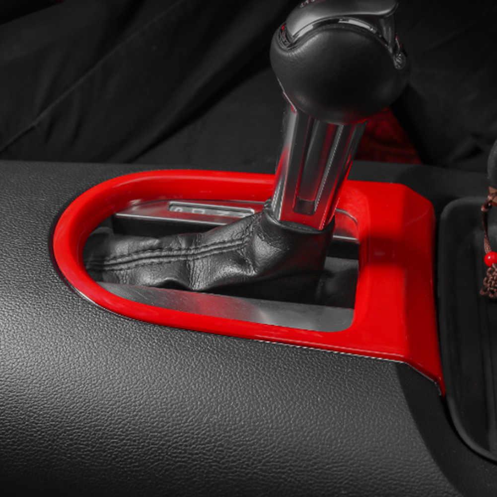 Console Auto Gear Shift Pannello Della Scatola Cornice Cornice Coperture Sticker Strisce Contorno Refit Auto-Styling per Ford Mustang 2015 2016 2017 2018