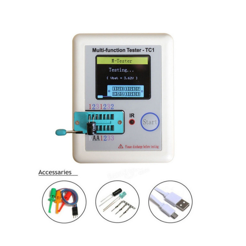 Multi-functional Practical Durable NPN PNP LCR-TC1 TC1 3.5inch Colorful Display Multifunctional TFT Backlight Transistor Teste