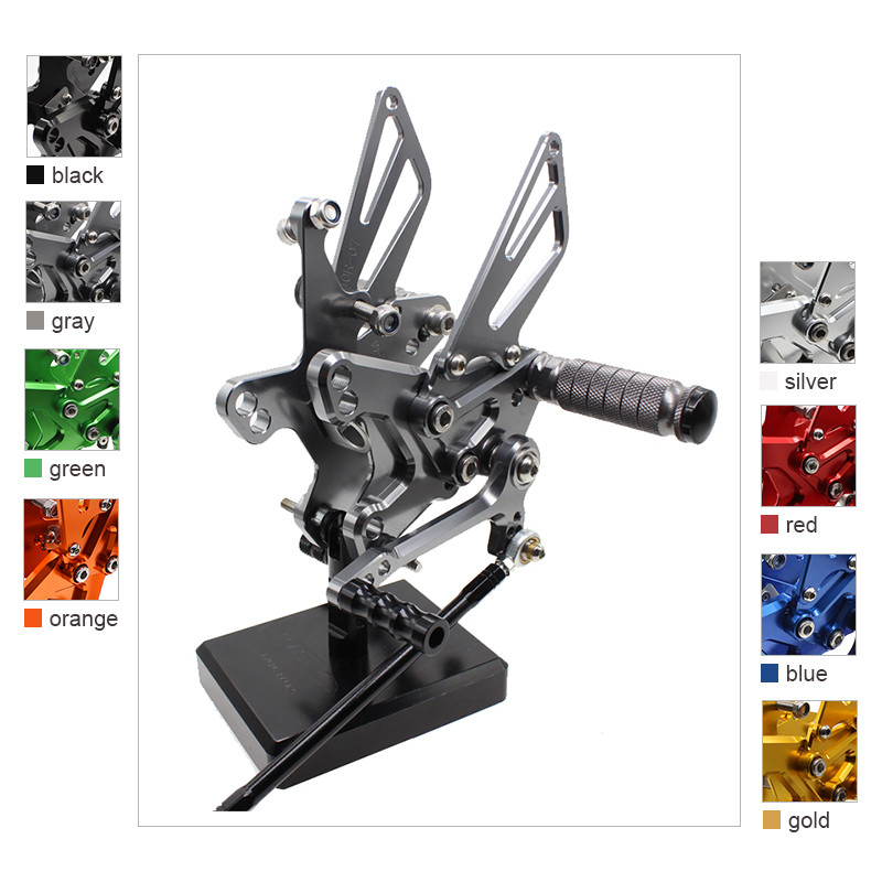Aluminum Adjustable Motorcycle Rearsets Rear Sets Foot Pegs Pedal Footrest For Kawasaki ZX10R 2011-2018 ZX 10R 2012 2013 2014