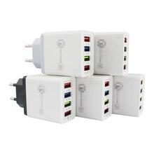 AC DC Universal Power Supply Adapter 5V 3A 4-Ports USB Charger Mobile Phone AC/DC USB 5 V Power Adapter 220V To 5V EU Plug