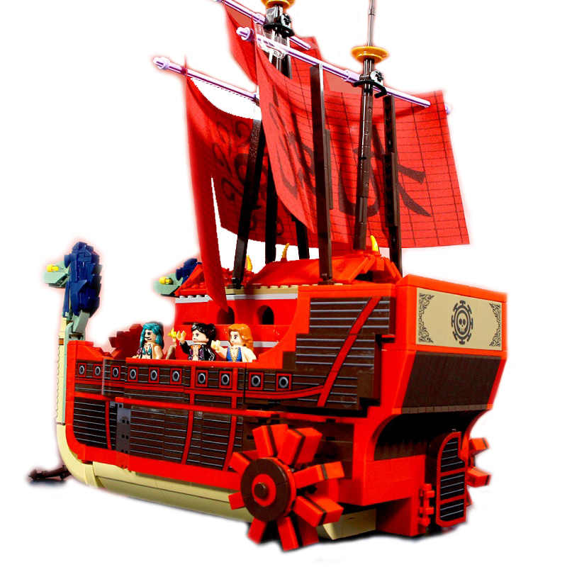 1484 sztuk słoneczny statek piracki Model Building Blocks Creator One Pieces statek piracki cegły łodzi DIY zabawki prezenty dla dzieci dzieci