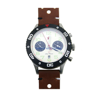 Sapphire Red Star Mechanical Chronograph Automatic Mens Pilot Watch Flieger B UHR Military