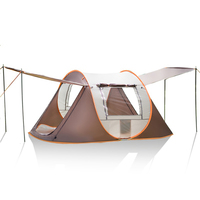 3 4 Person Outdoor Automatic Tents Large Family Tent Waterproof Camping Hiking Tent 80*50 cm Polyester New