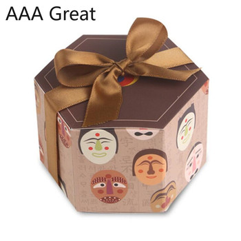 50Pcs/Lot Candy Box for Favor Gifts Decoration Event Party Supplies Wedding Favours Boxes Christmas Chocolate Packaging Present