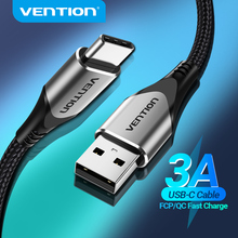 Vention-Cable USB tipo C para móvil, Cable USB tipo C de carga rápida para Samsung S10, S9, 3A, Xiaomi, Huawei
