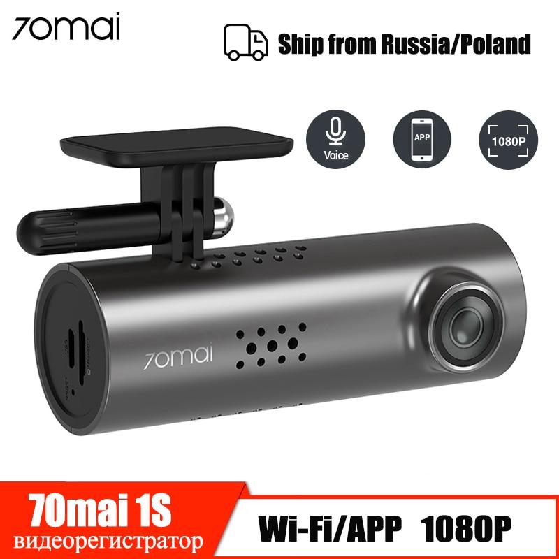 70mai traço cam 1 s carro dvr wifi app controle de voz 70mai dashcam 1080 p hd visão noturna câmera do carro gravador de vídeo automático g-sensor