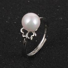 Новинка 2020, женские кольца, ювелирные изделия для женщин, модные свадебные кольца с жемчугом и посеребренным цветком, вечерние кольца для де...