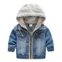 2019 chaqueta de mezclilla Casual para bebés niños con capucha azul chaqueta Vintage niños primavera otoño Jean prendas de vestir exteriores ropa para niños