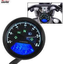 Universal   Motorcycle Panel Speedometer Night vision Dial Odometer  LED Multi function Digital Indicator Tachometer Fuel Meter