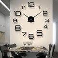 Новое украшение для дома настенные часы Большие зеркальные настенные часы современный дизайн настенные часы Diy настенные наклейки уникаль...