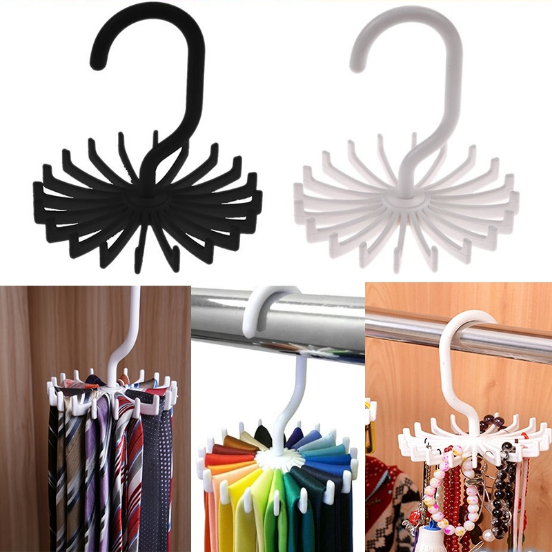20 Shawl Tie Rack Holds Adjustable Tie Belt Scarf Hanger Holder Hook Ties Scarf For Organizer