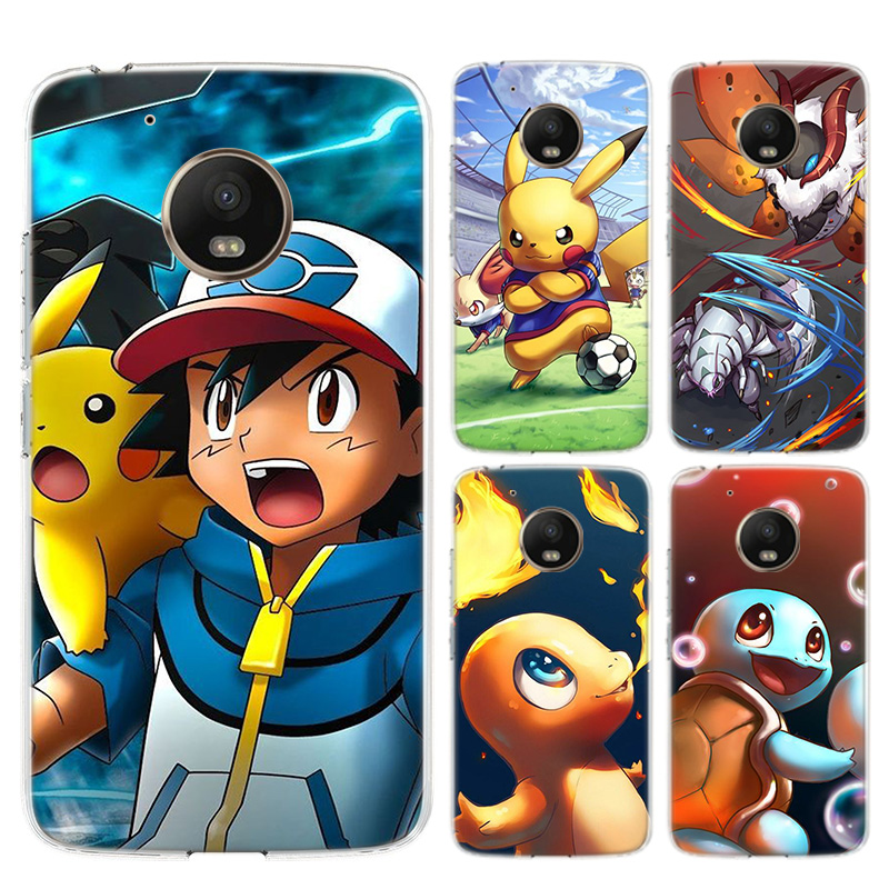 Best Pokemons Colorful Soft Silicones Case For Motorola Moto G8 G7 Power G6 G5 G5S E4 E5 Plus G4 Play Back TPU Cover