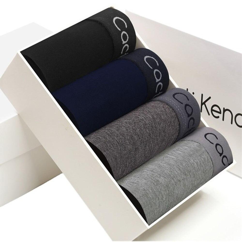2020 Panties Mens 4Pcs\lot Underwear Organic Natural Cottom Boxers Men Boxrs Ventilate Plus Size Boxers L XL XXL XXXL 4XL 5XL