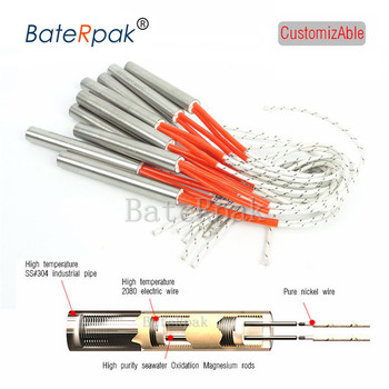 BateRpak Electric heating tube,stamping machine Heater,110/220V mold dry-type heating pipe Heat source/Heat element 1pcs price ljxh 1kw 1 5kw 2kw 3kw 4kw u type m16 electric heat pipe u shape heating element u type tube heating tube u shape heating tube