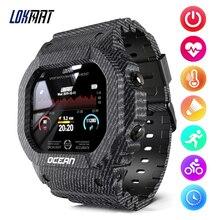 Умные часы Lokmat Ocean Sports для женщин, IP68 Водонепроницаемые умные часы для фитнеса и активного отдыха, шагомер, монитор сна, удаленная камера