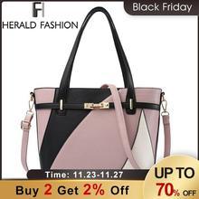 Herald moda bolsas de luxo bolsas femininas designer crossbody saco para mulheres sacos de ombro grande capacidade de couro do plutônio bolsa sac