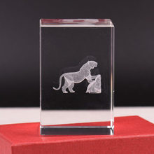 Crystal Cube 3D Laser Engraving Customizable 12 Chinese Zodiac Tiger Cattle tu long Dog Snake Pigskin Mouse Monkey Graduation Gi(China)