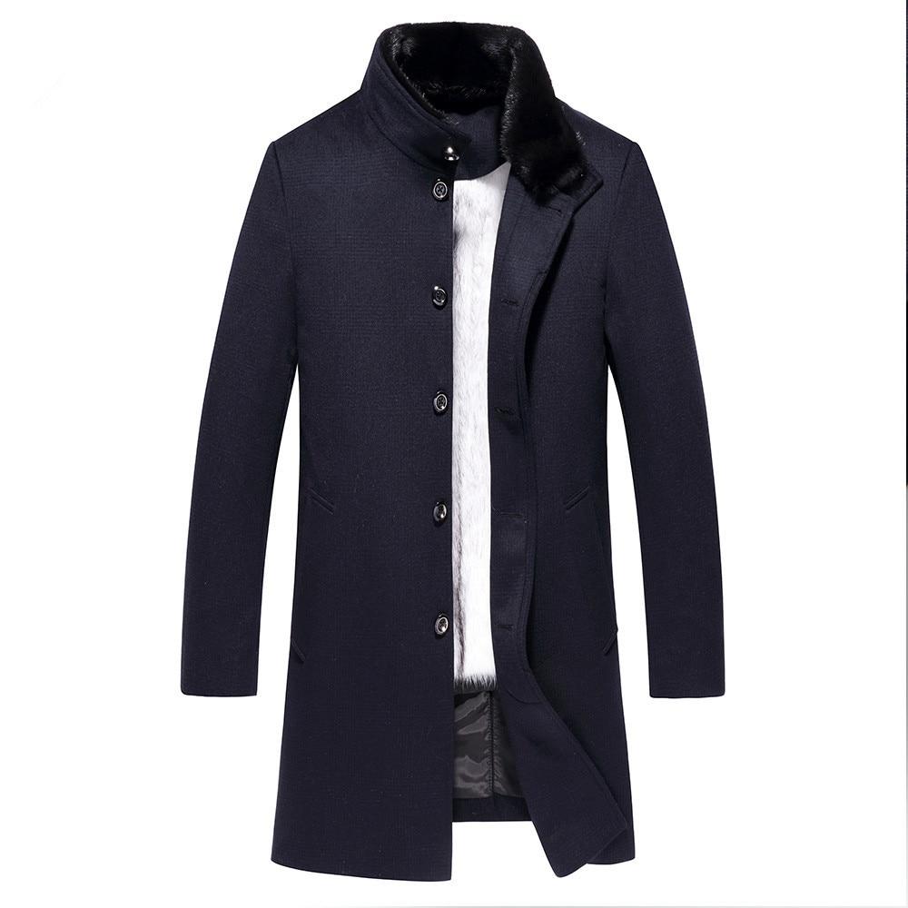 Real Fur Coat Natural Mink Fur Coat Men's Winter Jacket Real Wool Coats Male Luxury Warm Jackets Plus Size F-NX-8029 Y1852