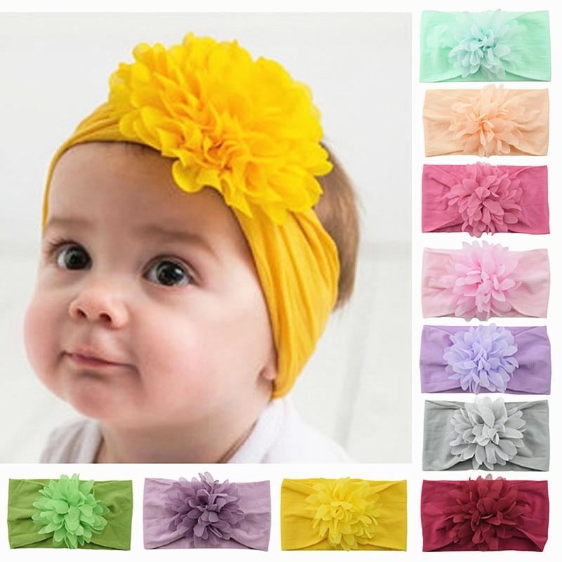 Hot Pink Baby Cute Baby Kids Girls Mini Bowknot Hairband Elastic Headband Photography Hairbands