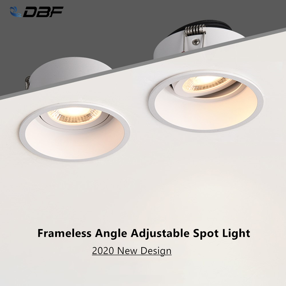 [DBF]Deep Anti-Glare Recessed Downlight Dimmable 5W 7W 12W 15W Angle Adjustable Ceiling Spot Lamp Home Corridor Aisle Background